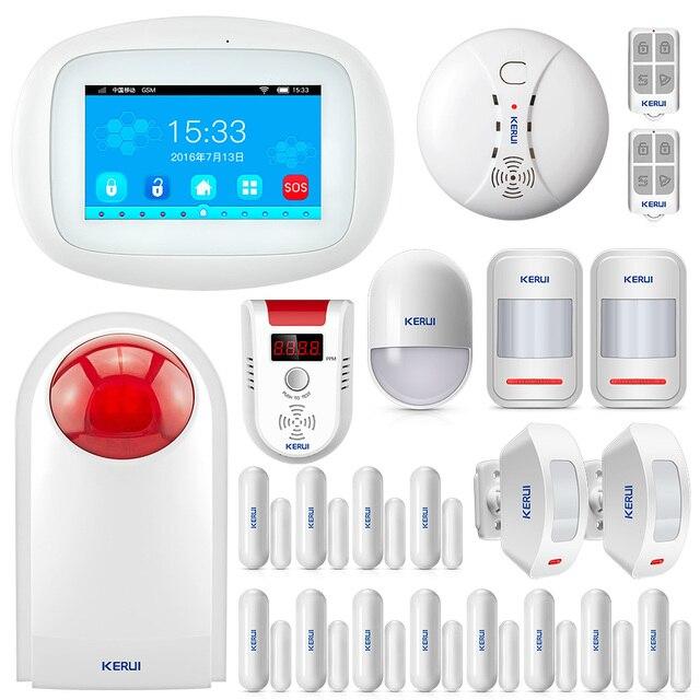 KERUI K52 Alarma GSM Wifi APP Controle Ternos Para a Segurança Home 4.3 Polegada TFT a Cores Sistema de Alarme Sem Fio do Assaltante Seguridad