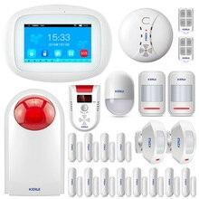 KERUI K52 GSM Wifi APP Control Alarma Anzüge Für Home Security 4,3 Zoll TFT Farbe Drahtlose Einbrecher Seguridad Alarm System