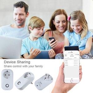 Image 4 - ACCKIP Europe Plug inteligentne gniazdo WiFi sterowanie głosem ustawienie czasu Tuya inteligentne życie App inteligentna wtyczka 16A miernik energii oszczędzanie energii