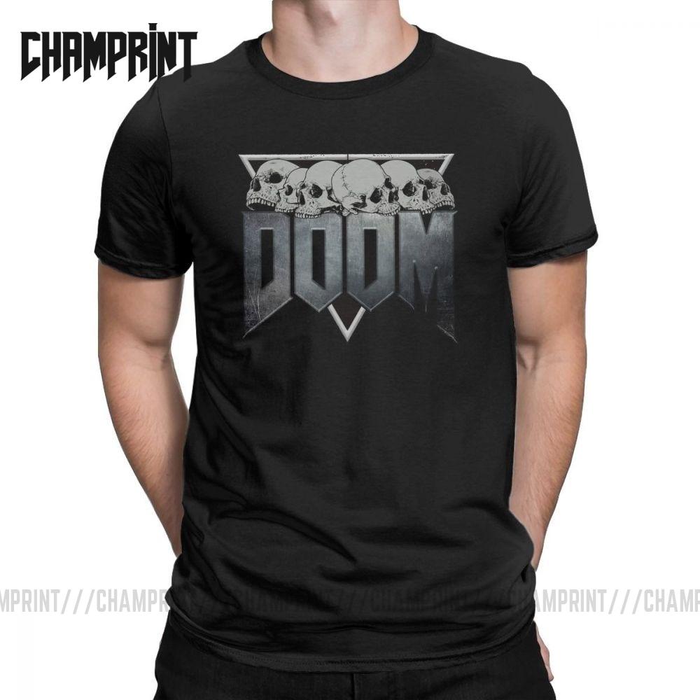 Men's T-Shirt Doom Eternal 100% Cotton Tee Shirt Short Sleeve Game Conan Barbarian Thulsa Snake Cult T Shirt Clothing Printed