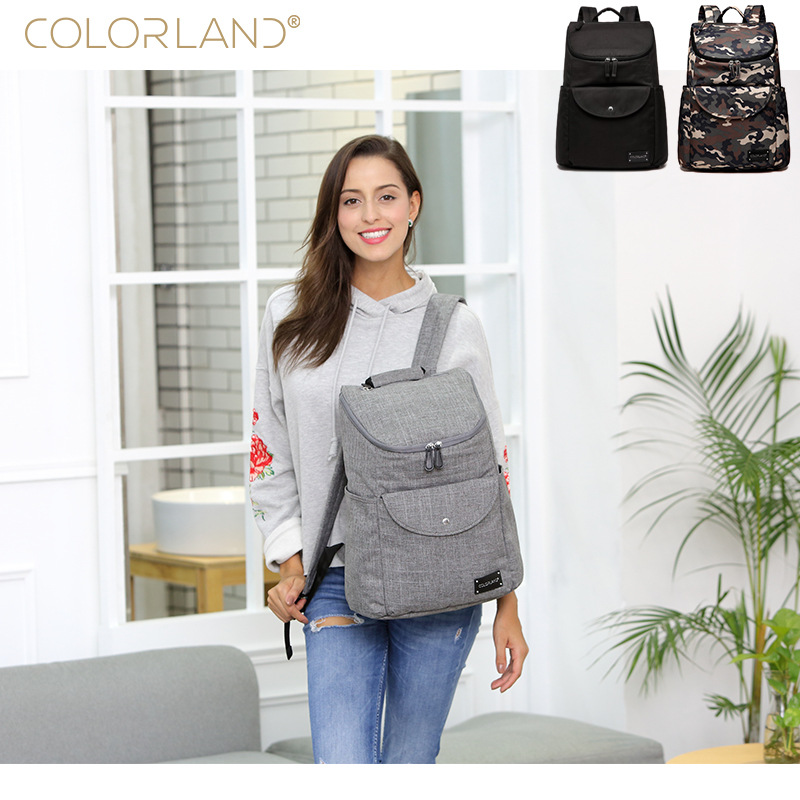COLORLAND Mummy Maternity Nappy Bag Large Capacity Nappy Bag Outdoor Travel Backpack Nursing Bag For Baby Care Women's Bag