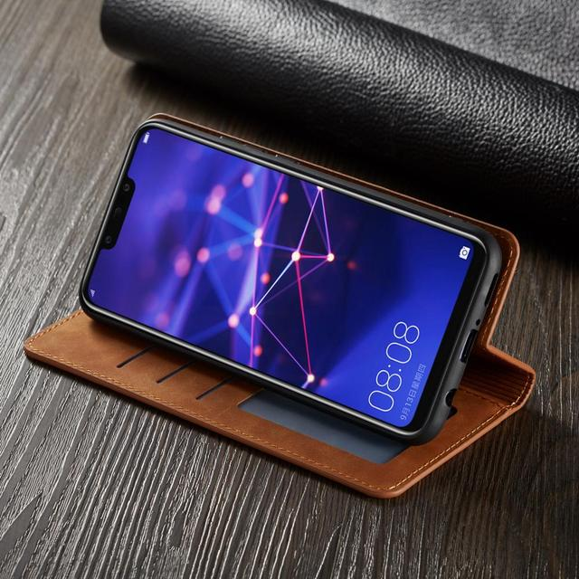 Luksusowe skórzany futerał na telefon dla Huawei P20 Mate20 P30 Lite etui magnetyczne etui flip wallet Case dla Huawei P20 Mate20 P30 Pro Coque etui