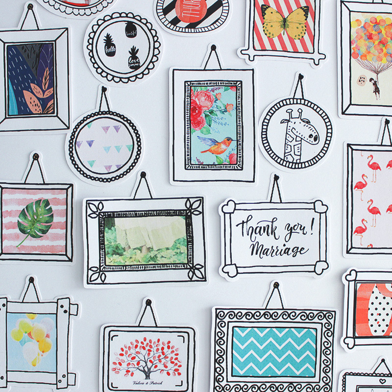 36PCS Cute  Stickers Crafts And Scrapbooking Stickers Book Student Label Decorative Sticker Kids Toys