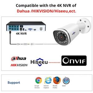 Image 2 - Hiseeu رصاصة 4K 8MP POE IP كاميرا مقاوم للماء تسجيل الصوت فيديو مراقبة الأمن كاميرا تلفزيونات الدوائر المغلقة ل POE NVR 48 فولت ONVIF H.265