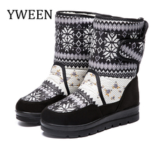 YWEEN Women snow boots platform winter thick plush waterproof non-slip women shoes plus size botas mujer