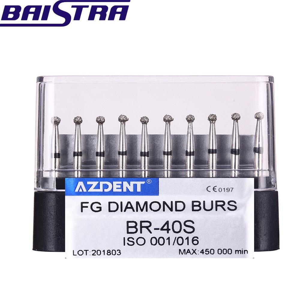 BR-40S 10 Pcs/set Dental High Speed Diamond Burs  Dentist Super Coarse Diamond Dental Lab Tools