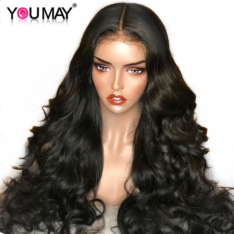 You May Hair Body Wave Glueless Full Lace Human Hair Wigs For Black Women Bleached Knots Brazilian Non-Remy Human Hair