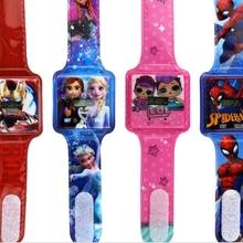 20 шт Цветные Милые детские часы, Детские Мультяшные часы, силиконовые наручные часы для мальчиков и девочек, Рождественский подарок
