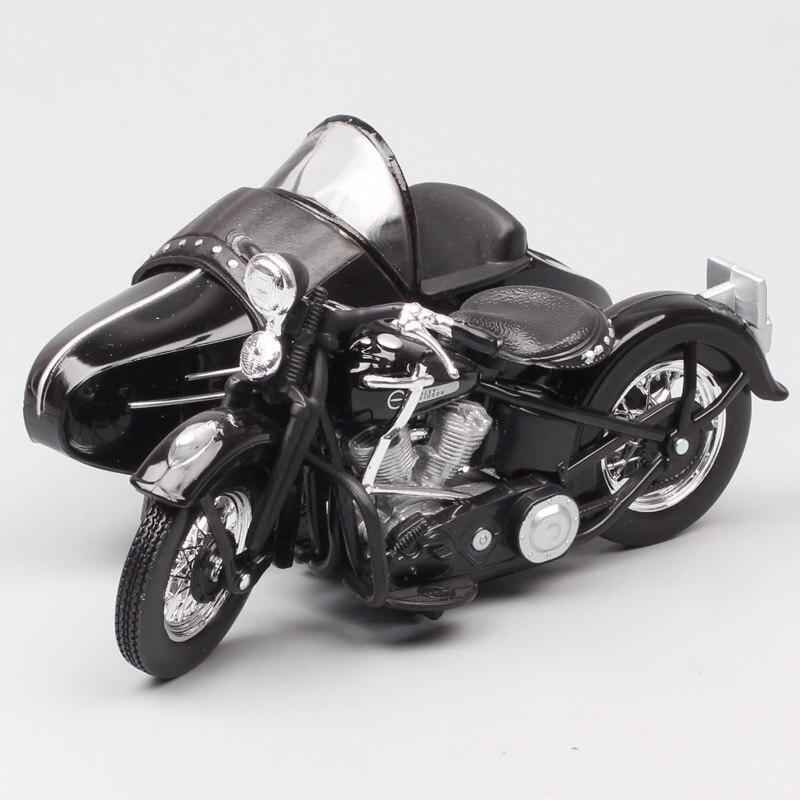 Harley Davidson 1948 mit Beiwagen FL Panhead 1//18 Maisto Modell Motorrad mit o..