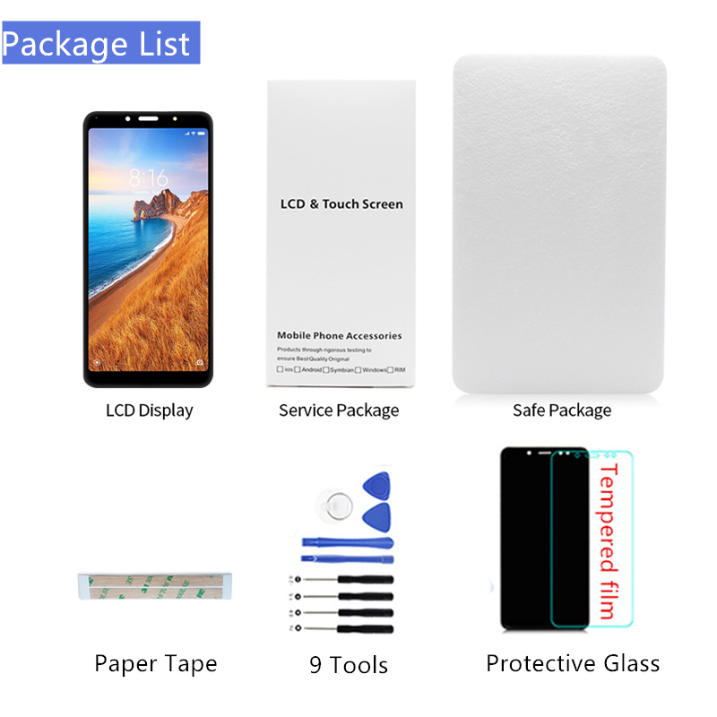 Image 5 - for Xiaomi Redmi 7A LCD Display Touch Screen Digitizer Assembly with Frame for redmi 7a display replacement Repair Spare Parts-in Mobile Phone LCD Screens from Cellphones & Telecommunications on