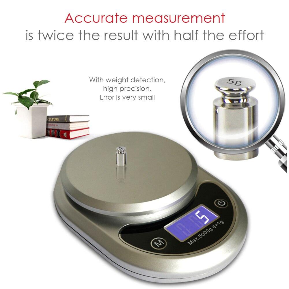 Yüksek hassasiyetli elektronik tartı gıda dengesi mutfak pişirme ağırlık dijital ölçekli mutfak ölçüm aksesuarları Mutfak Terazileri Ev ve Bahçe - title=