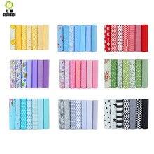 Tissus Patchwork en coton de haute qualité, 10 séries florales, 40x50cm, lots de 7 pièces de tissus pour la couture de poupées