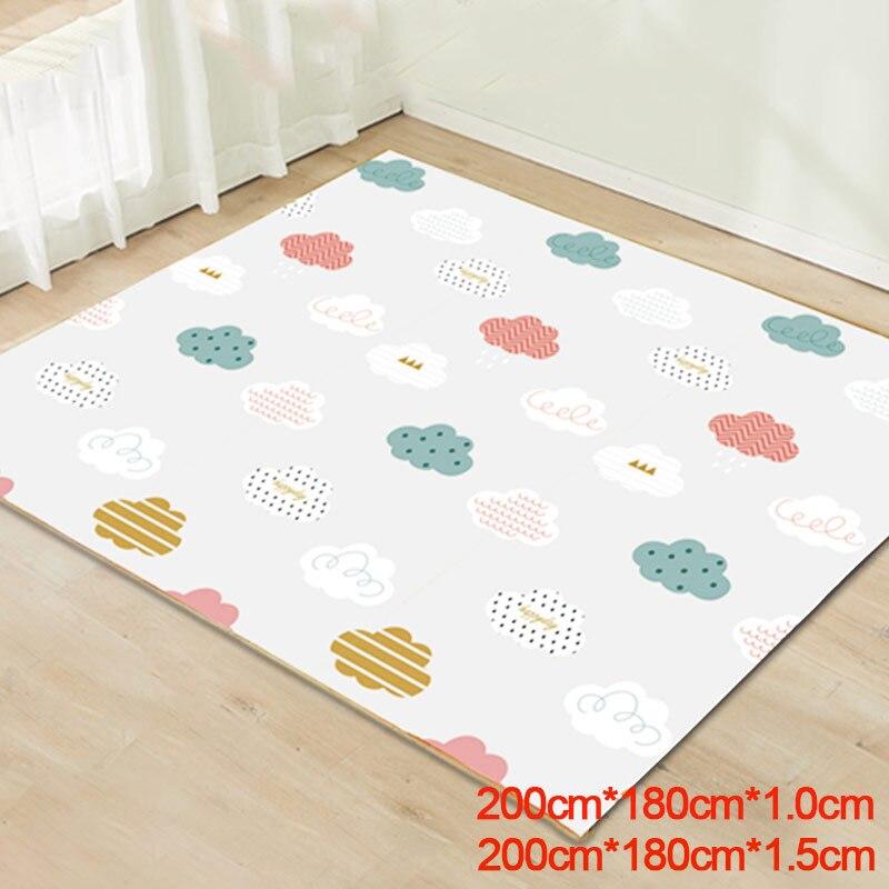 200cm*180cm Baby Play Mat Waterproof XPE Soft Floor Baby Carpet Rug Developing Mat Climbing Pad Kids Rugfor Children Game Pad