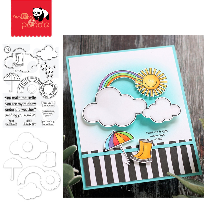 UNDER THE WEATHER Metal Cutting Dies And Stamps Stencils For DIY Scrapbooking Paper Cards Embossing Cut Dies