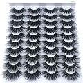 16- 20 пар 8-25 мм накладные ресницы 100% норковые ресницы натуральное драматическое объемное наращивание ресниц Накладные ресницы