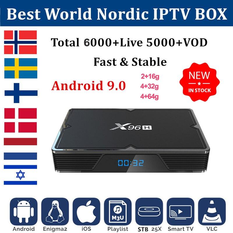 X96H Iptv nórdicos Países Bajos Suecia de ninguna manera Finlandia Israel 1 ano 4gb 64gb caja de tv android 9,0 iptv m3u suscripción x96mini plus