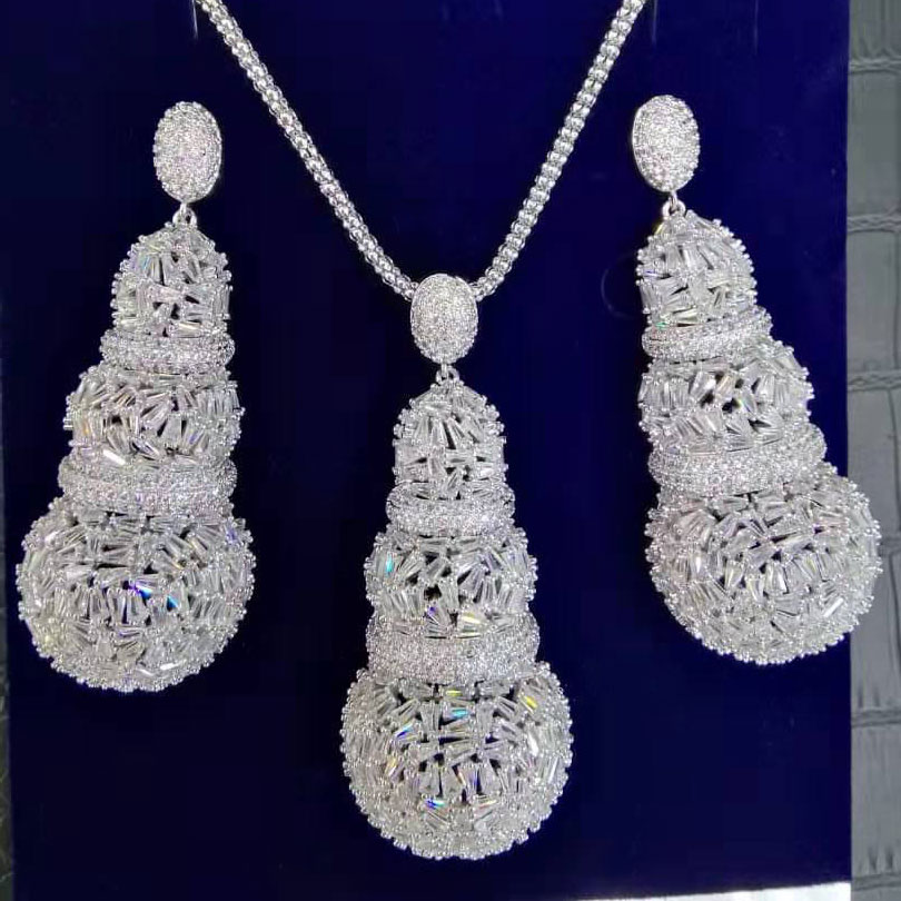 For, Nigerian, Sets, GODKI, Indian, Necklace