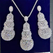 GODKI Luxury Water Drop Cubic Zircon Nigerian Necklace Earring Jewelry Sets For Women Wedding Indian Dubai Bridal Jewelry Sets(China)