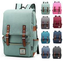 Mochila Vintage de lona para ordenador portátil a la moda, bolsos de lona para hombre, mochilas de viaje informales Retro, bolsas escolares para adolescentes #