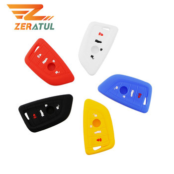 For BMW 1 2 5 Series 218i X1 F48 X5 X6 F15 Smart Remote Car Key Case Shell Accessories Silicone Car Key Cover Case 3 Buttons image