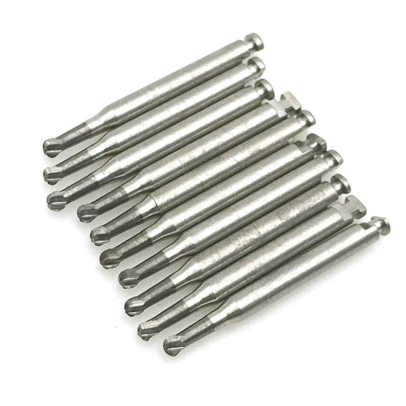 10Pcs Dental Tungsten Steel Carbide Burs RA-5/RA-702 For Low Speed Latch Type