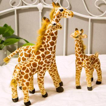 New Cute Real Life Giraffe Plush Toys for Children Simulation Deer Animal Stuffed Doll Kids Birthday Gift Lovely Home Decor 1