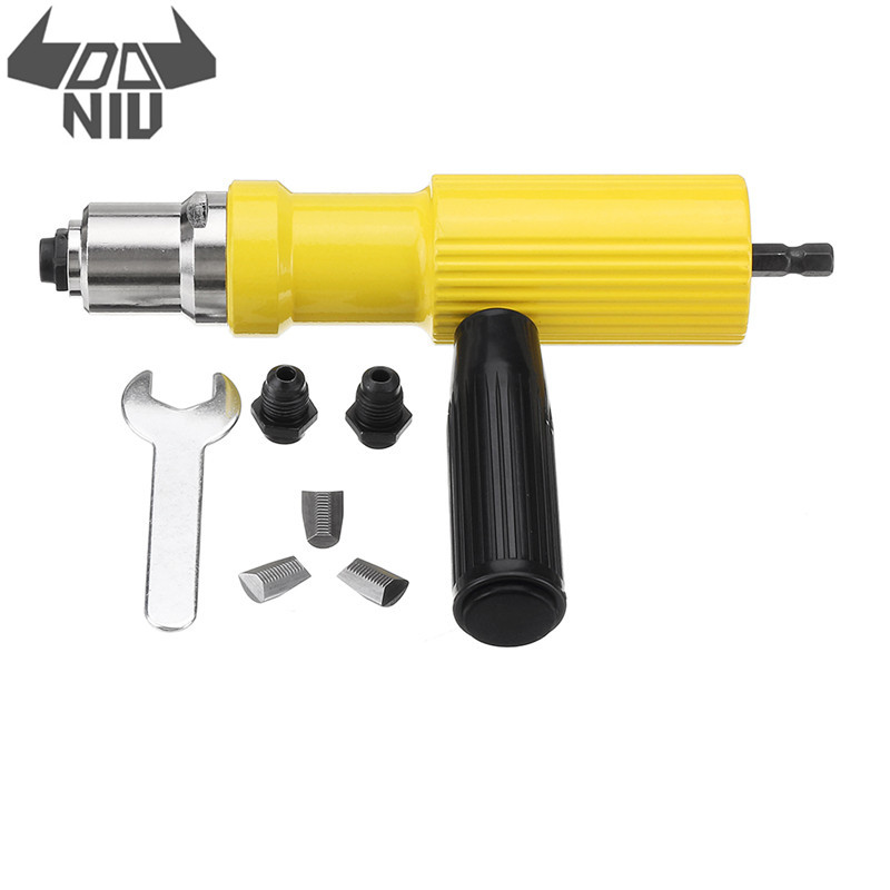DANIU Electric Rivet Nut Guns Riveting Tool Metal Cordless Riveting Drill Adapter Tools