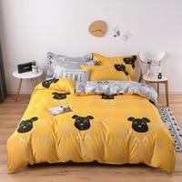 Home Textile Kinder Bett Bettwäsche Set Weiche Bequeme Bett Gesetzt Kissenbezug Blatt Cartoon Kinder Bettwäsche Set für Erwachsene Bett