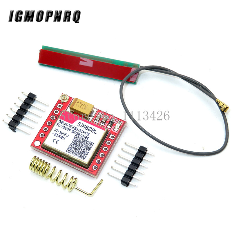 SIM800L GPRS GSM Module Micro SIM Card Core Quad-band TTL Serial Port Antenna PCB Wireless WIFI Board for Arduino Smart Phone