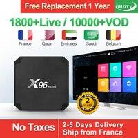 X96 Mini Arabic France IPTV Receiver Android 7.1 S905W Quad Core 2.4G WIFI With QHDTV Subscription IPTV France Arabic IPTV Box
