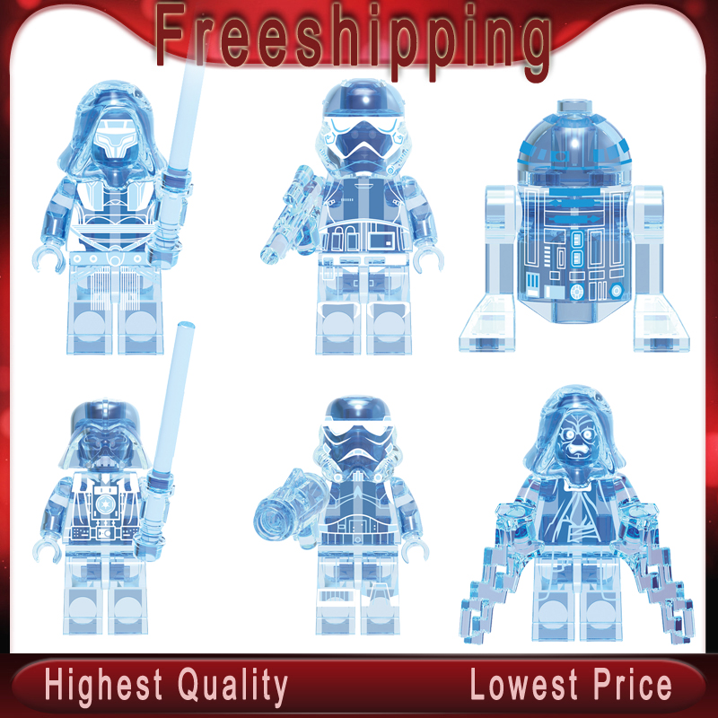 Legoed Baby Yoda Mandalorian Holographic Darth Vader Star MINIFIGURED War Building Blocks Figures Toys For Children  X0287