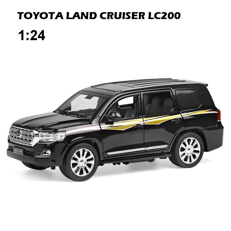 1:24 TOYOTA LAND CRUISER LC200 металлическая модель автомобиля, игрушки для детей с 6 открытыми литыми автомобилями