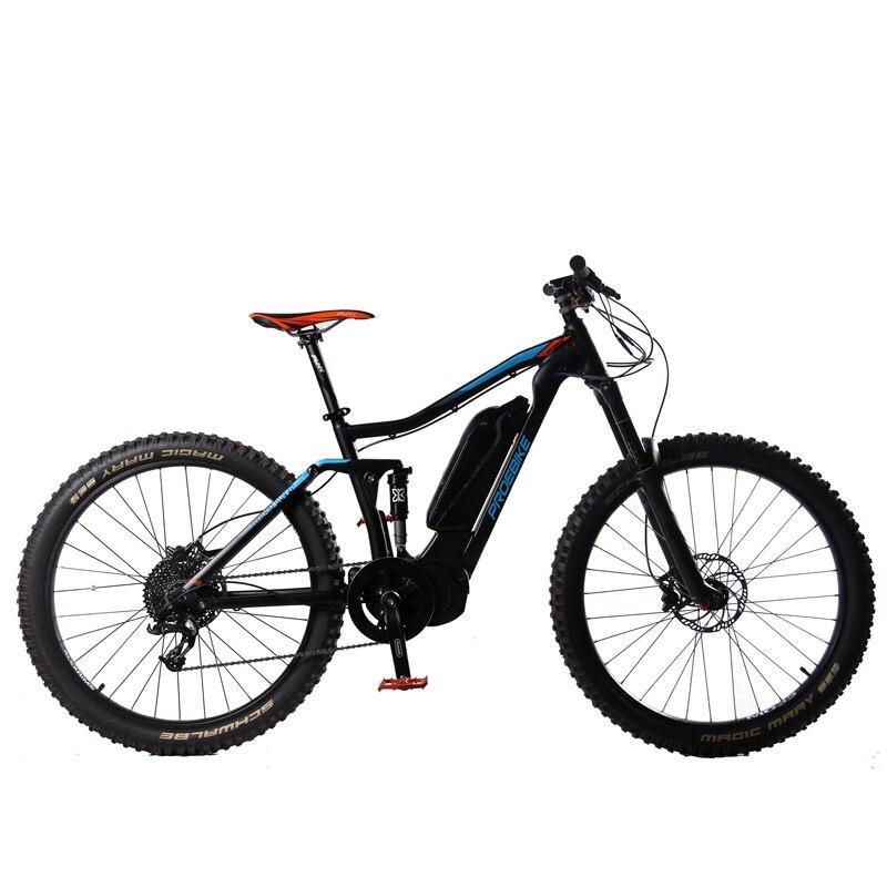 Vélo électrique 27.5 pouces, moteur à mi-entraînement 1000 W, batterie au Lithium 48V 14Ah LG, capteur de couple, vélo d'assistance à la pédale