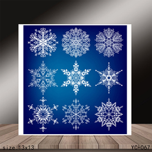 AZSG snowflake Clear Stamps/Seals For DIY Scrapbooking/Card Making/Album Decorative Silicone Stamp Crafts