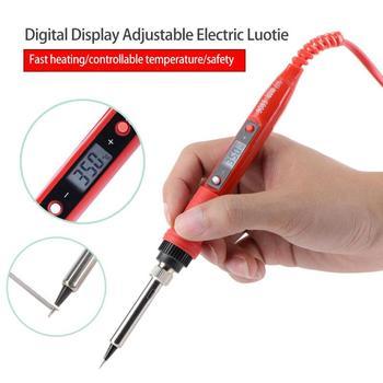 digital temperature adjustable electric soldering iron weld tin welding pen fast heating 80w electronic repair
