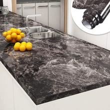 Dark Marble Wall Paper Peel and Stick Wallpaper Decorative Adhesive Film for Countertops Sink Table Desk Cover Furniture Decor