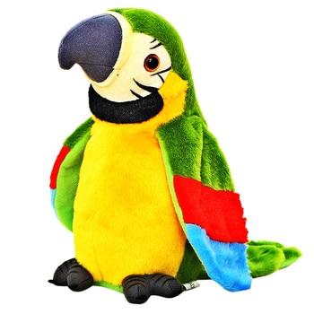 28cm cute parrot plush toy stuffed doll bird children baby birthday christmas gift Electric Talking Parrot Plush Toy Cute Speaking Record Repeats Waving Wings Electroni Bird Stuffed Plush Toy Kids Birthday Gift