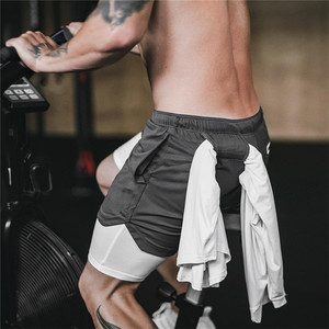 Men's brand Shorts Running Shorts Quick Drying Sport Shorts Gyms Fitness Bodybuilding Workout Built-in Pockets Short pants Men(China)
