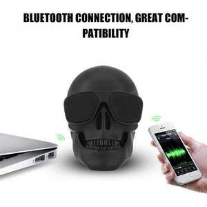 Skull Speaker Music-Player Support Sound Bluetooth Mini Stereo 5w Audio Wireless Tf-Card