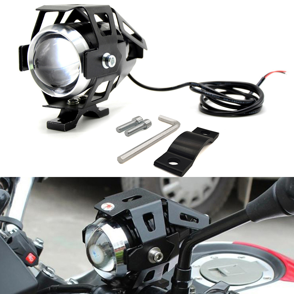 Motorcycle <font><b>LED</b></font> <font><b>Headlights</b></font> U5 <font><b>Led</b></font> Spotlight moto light Fog Spotlights 12V For Kawasaki <font><b>Ninja</b></font> EX500 650R ER6F ER6N 250 300R <font><b>300</b></font> image