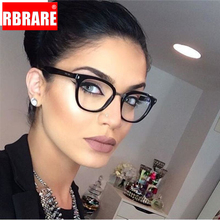 RBRARE Sexy Purple Spectacle Frame Square Glasses Frame Clear Lens Black Sunglasses Two Tone Rivet Eyeglasses Frames Women two tone frame mirror lens sunglasses