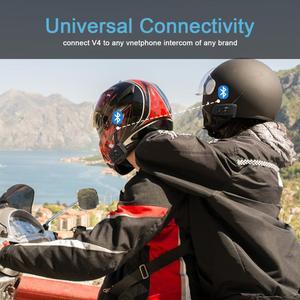 Image 4 - V4 interkom interkom Intercomunicadores De kasko Moto kask bluetooth kulaklık Intercomunicador Moto radyo 4 biniciler 1200m interkom Moto