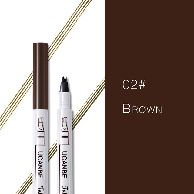 Music Flower Makeup Fine Sketch Liquid Eyebrow Pencil Waterproof Microblading Tattoo Super Durable Smudge-proof Eye Brow Pen 4