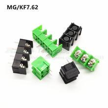 10 шт./лот 7,62 мм KF7.62-2 P 3P 4 P MG 762-2 3 4 Pin может быть соединен винт Клеммная колодка Разъем Черный Зеленый 7,62 мм шаг