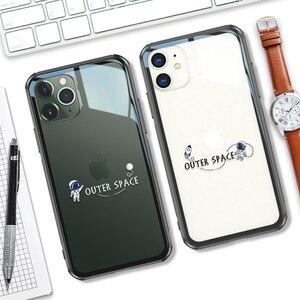 Image 1 - 強化ガラス電話ケース iphone 11 プロマックス 6.5 6.1 保護 transparant ケース iphone 11 pro のガラスシェルカバー