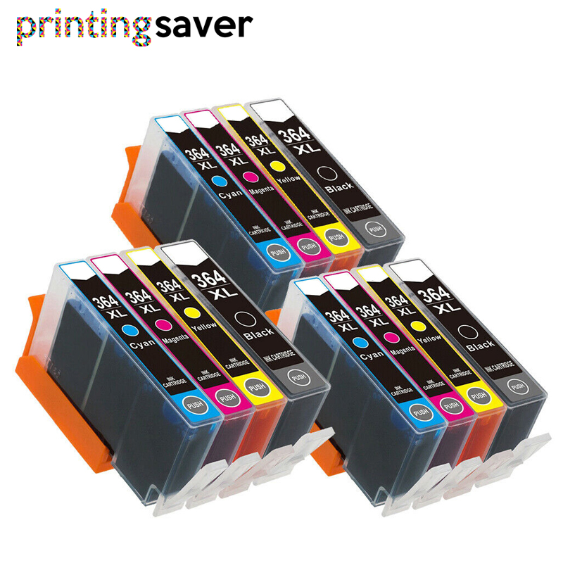 12pc 364XL Compatible Ink Cartridge For HP364 Xl Photosmart 5520 5524 6510 6520 7510 B109 B110 B209 B210 C309 C310 C410 Printer