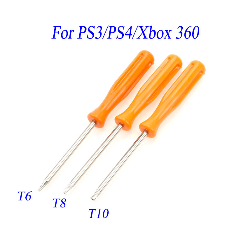 Security Screwdriver For Xbox 360/ PS3/ PS4 Tamperproof Hole Repairing Opening Tool Screw Driver Torx T6 T8 T10