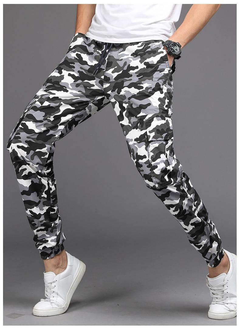 KSTUN Cargo Pants Men Camouflage Harem Joggers Men's Causal Hip Hop Trousers Drawstring Sweatpants Male Large Size Pants Good Quality 21
