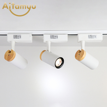 Nordic Home Office Led Spotlights Nodern Track Lighting Clothing Store Wall Led Track Lamp Corridor Bar Decoration Home Lighting northern wind led lamps wall lamp industry designer clothing store track shoot the lamp to the sitting room corridor