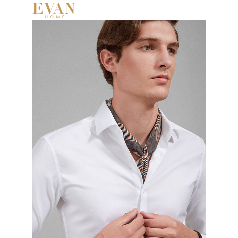 Top Quality Mens Formal Dress Shirts Long Sleeve White Pure Cotton Business Slim Fit Plus Size Office Non Iron